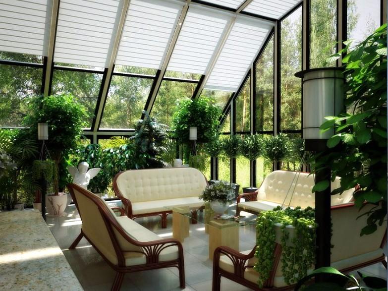 Мансарда своими руками в частном доме дизайн Зимний сад
