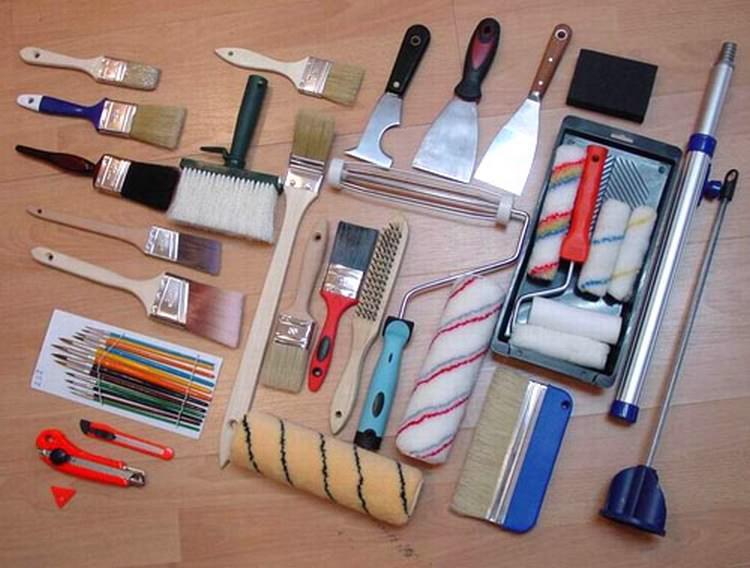 Инструменты для подготовки стен под обои