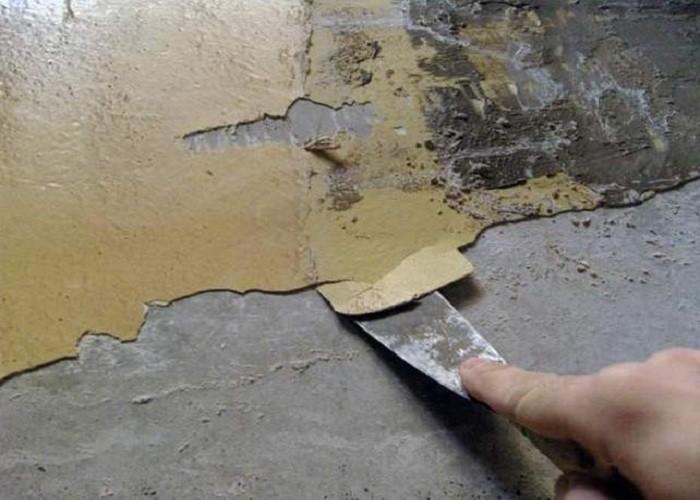 Подготовка стен под обои, снятие краски