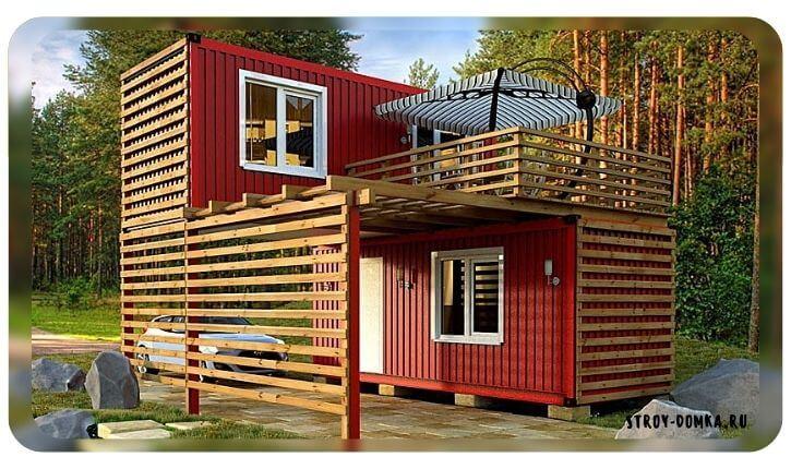 Построить дом из вагончиков для постоянного проживания
