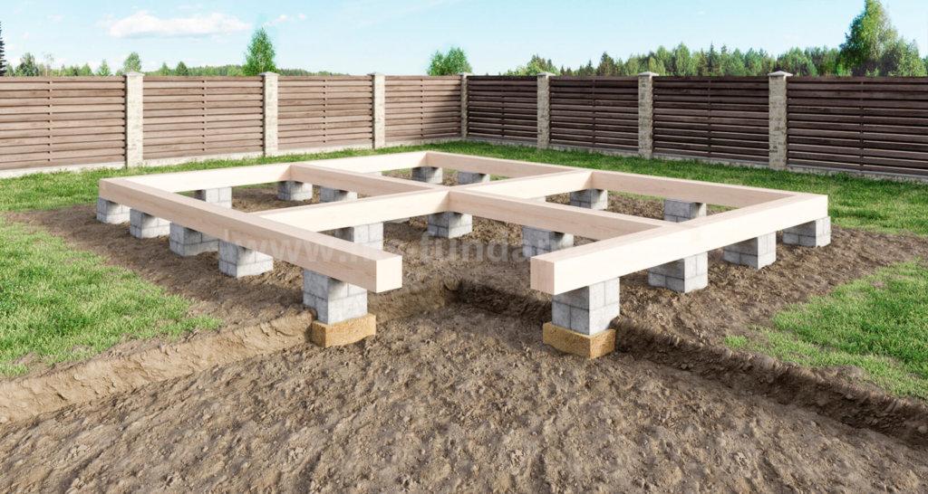 Столбчатого фундамента этап строительста своего дома