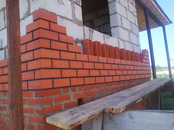 Стена дома из блока - этапы строительства