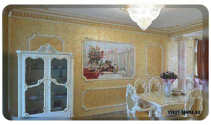 Вставки в виде картин в косметическом ремонте