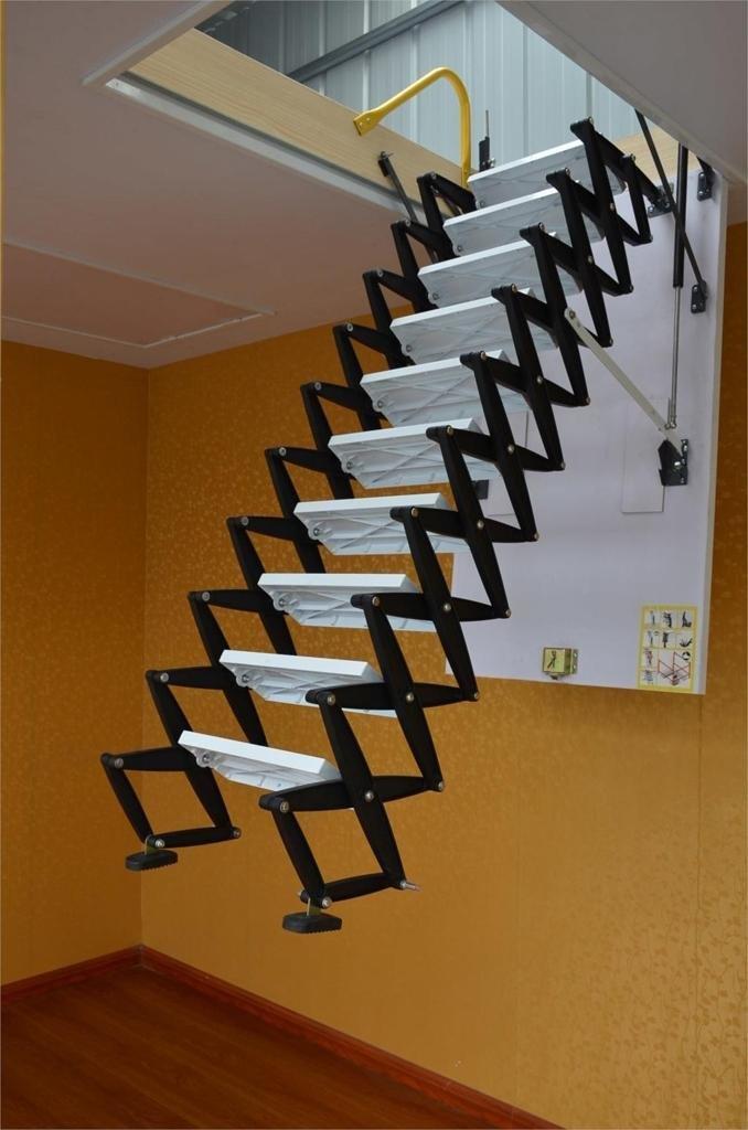 Лестница на чердак в частном доме своими руками