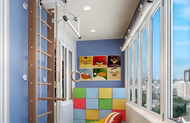 Комната на балконе для ребенка
