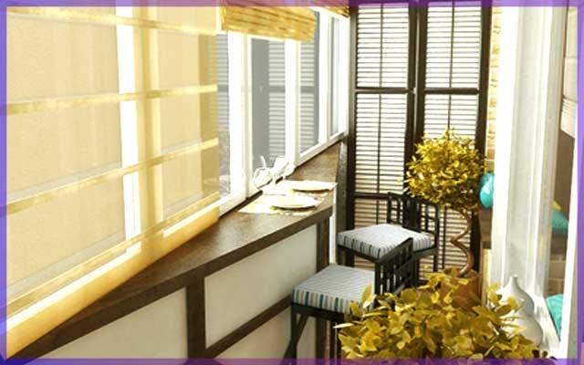 Комната на балконе, как кабинет