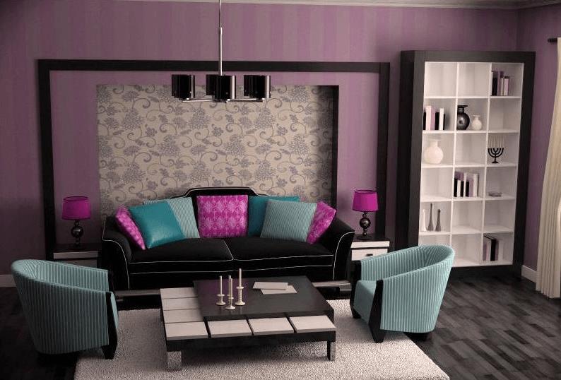 Фиолетовый цвет в интерьере влияние на человека