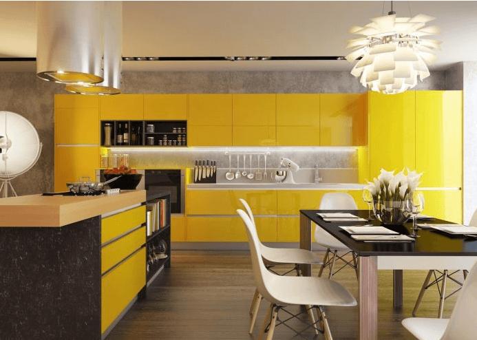 Желтый цвет в комнате
