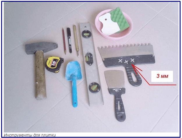 Укладка напольной плитки на неровный пол при необходимыж инструментах