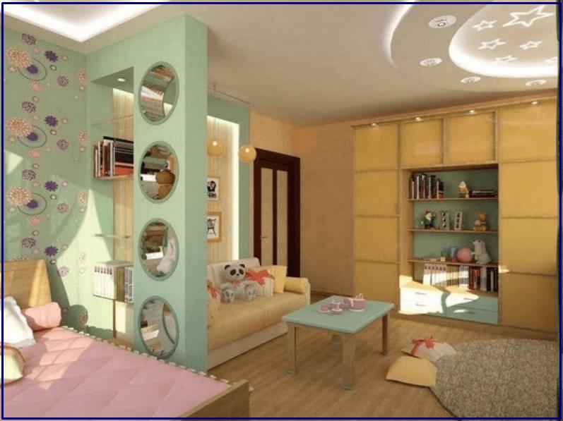 Зонирование - детская комната девочки