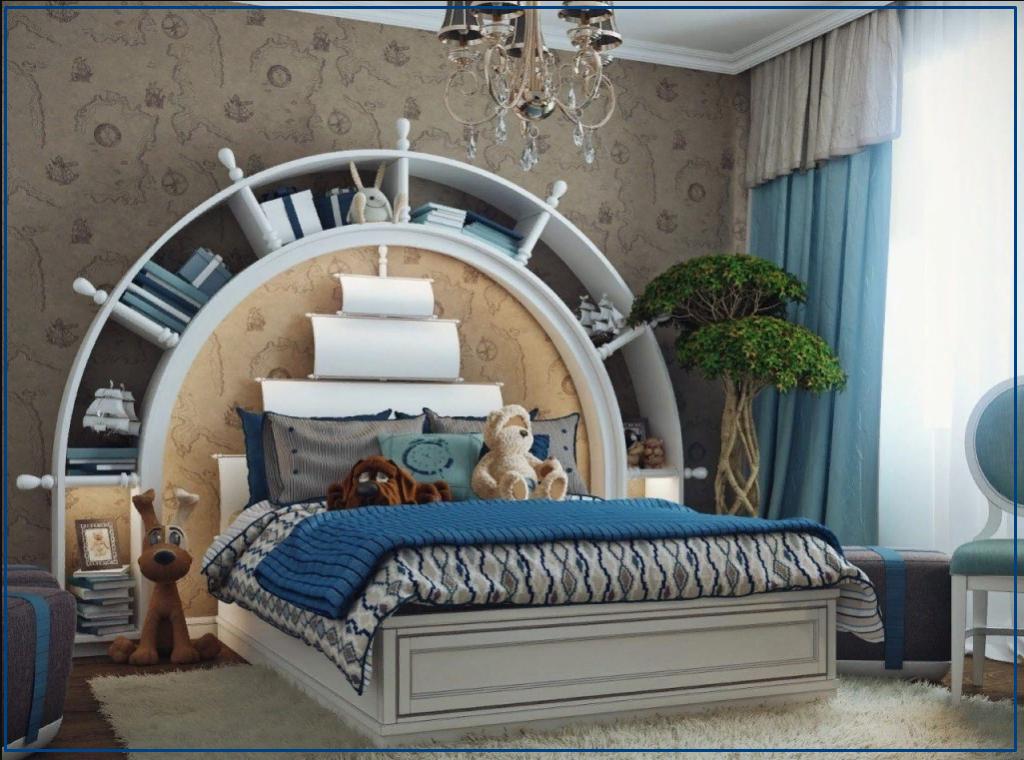 Морской стиль в комнате для мальчика подростка