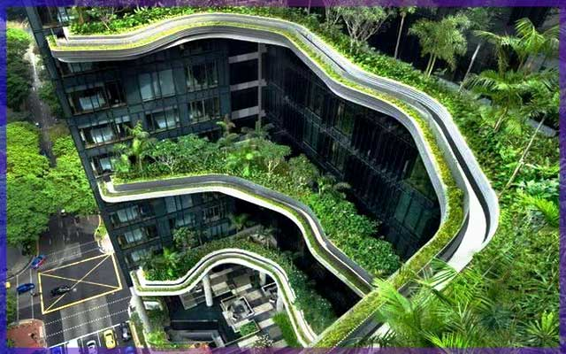Экологически чистое строительство - зеленые насаждения