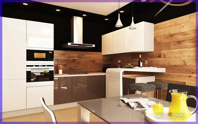 Ламинат для стен на кухне