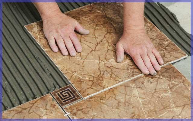Особенности укладка напольной плитки на неровный пол