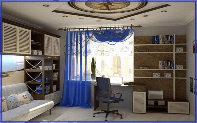 Комната для мальчика подростка морской стиль