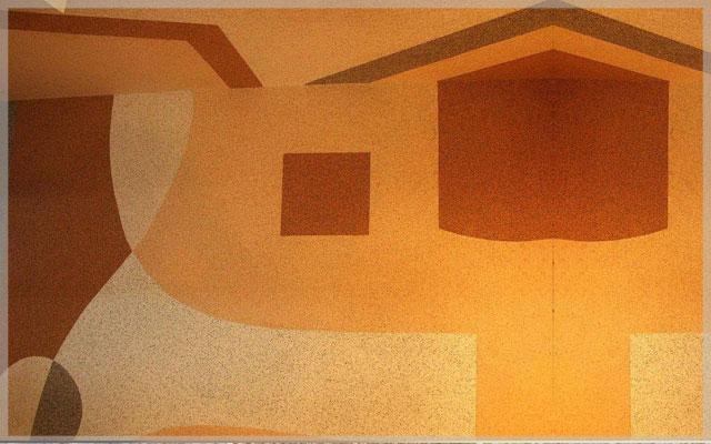 Создание рисунка из мраморной крошки во внутренних работах