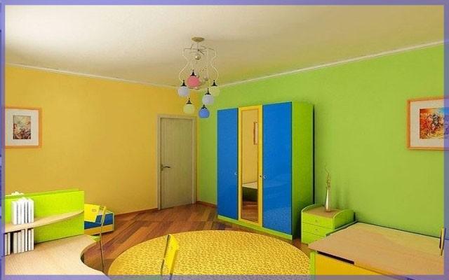 Выбор акриловых красок для стен и потолка в комнату