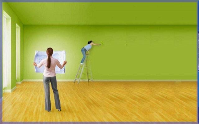 Выбор за вами акриловые краски для стен и потолков