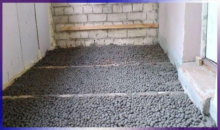 Балкон утеплить керамзитом