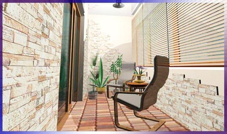 Клинкерная плитка на балконе