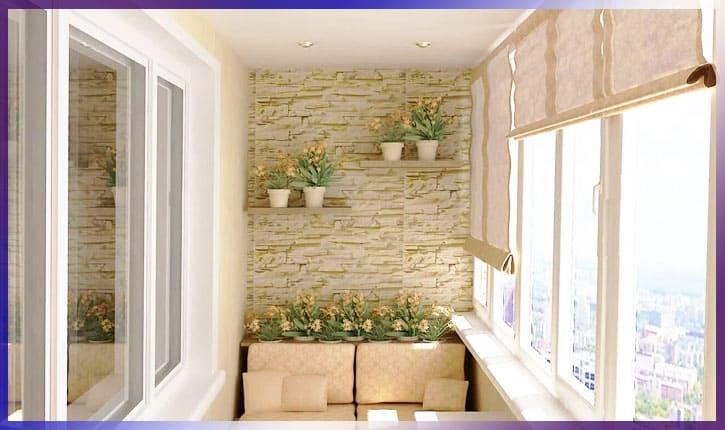 Текстильные панели на балкон