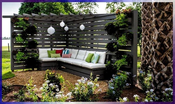 Идеи для сада и дачи - деревянные перегородки