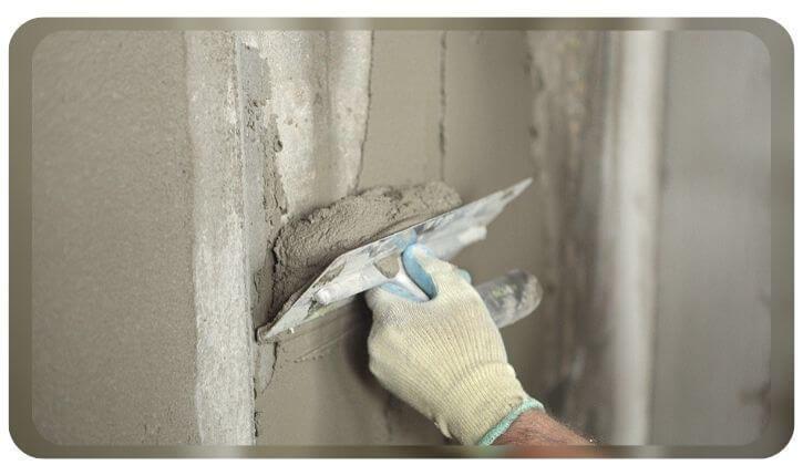 Оштукатуривание бетонные плоскости