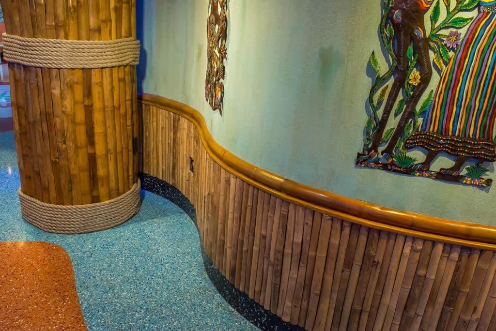 Bamboo wallpaper in the nursery