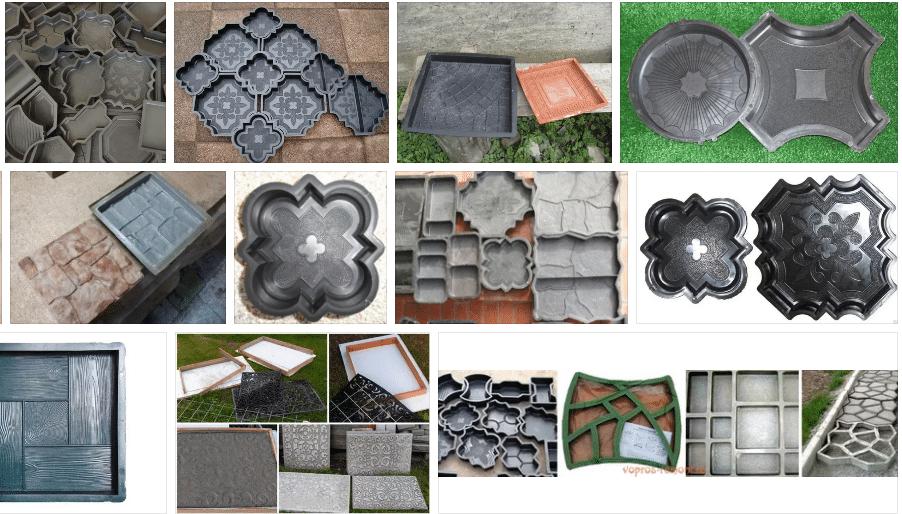 Как сделать формы для тротуарной плитки