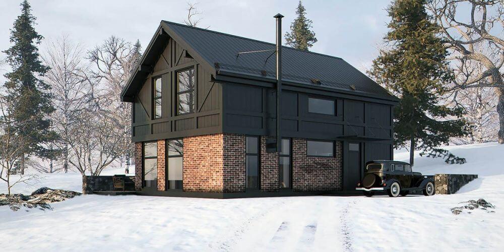 Комбинированные дома из блоков и доски