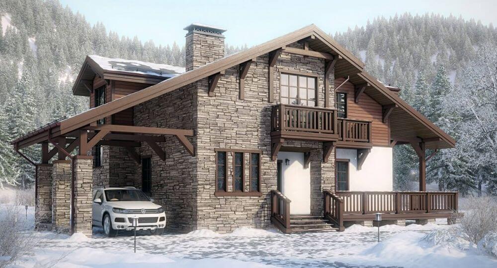 Комбинированые дома из блоков и кирпича