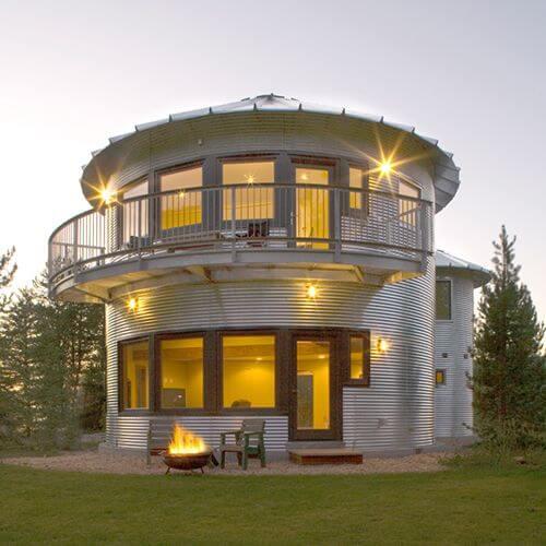 Красивый модульный дом