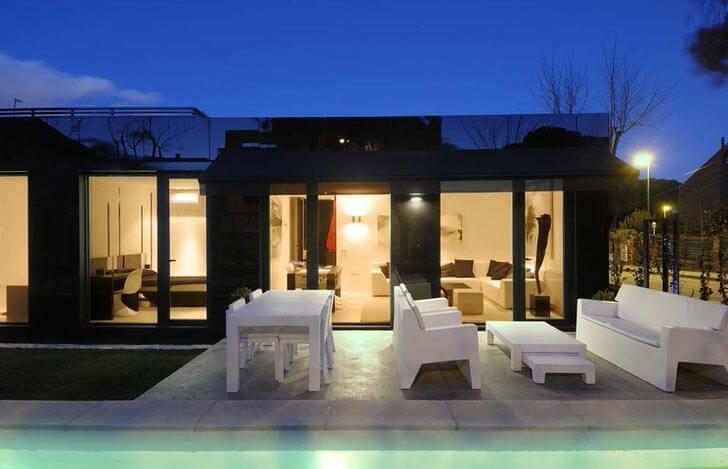 Освещение дизайне для мобильного дома