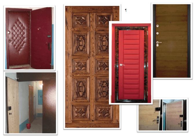 Отделка бронированных дверей