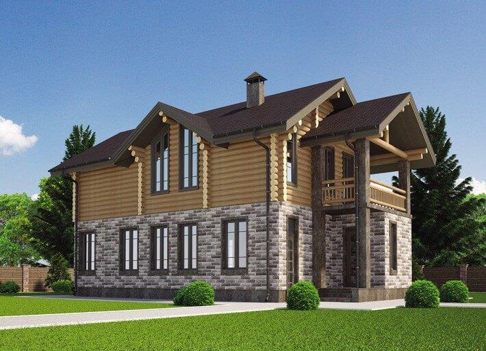 Комбинированные дома проект