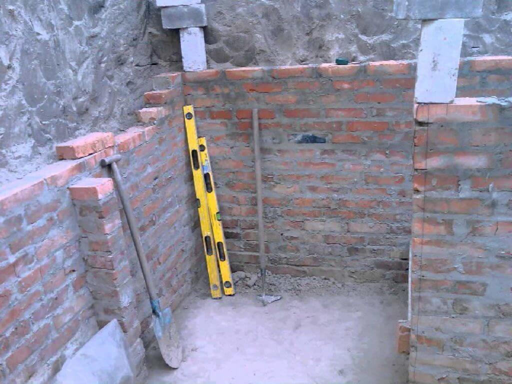 Стены погреба своими руками