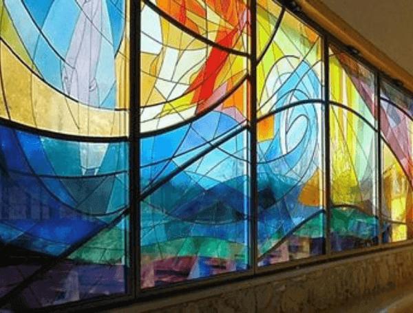 цветное стекло для витражей для окна