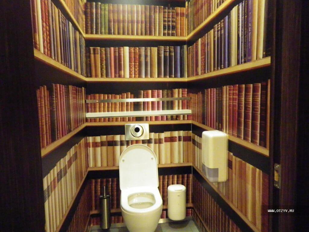 комната в стиле библиотеке