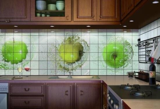 плитка для отделки фартука в кухню