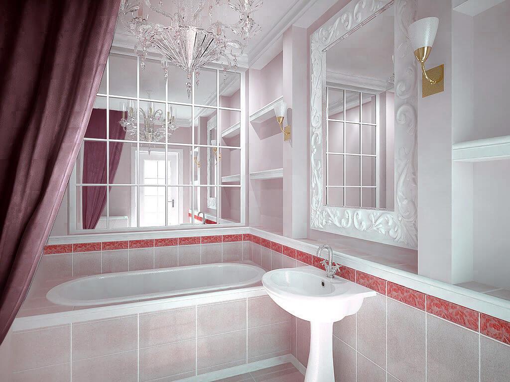 Зеркальная плитка для ванны